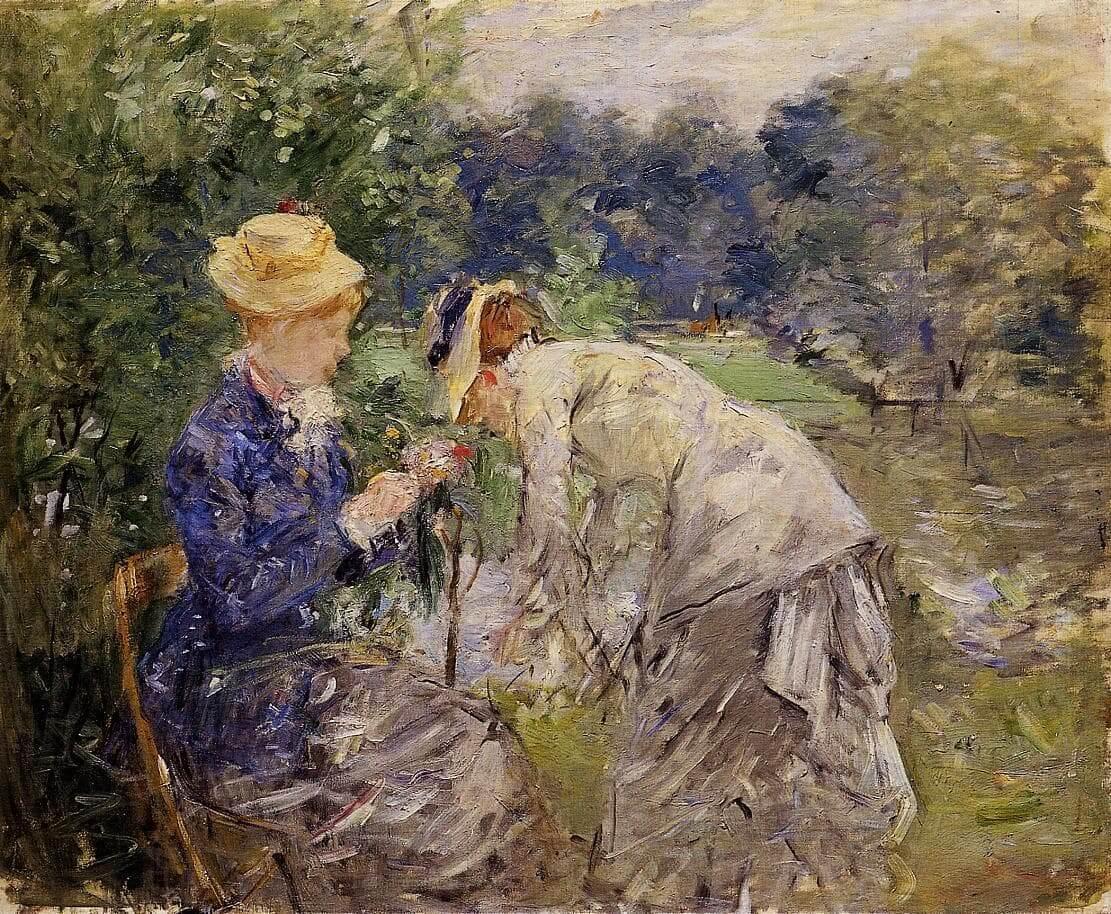 """""""In het Bois de Boulognee"""" door Berthe Morisot"""